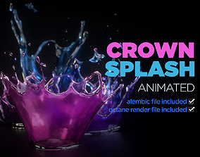 Crown Splash Animation 3D