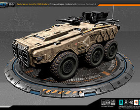 3D model game-ready RTS Armoured 6X6 - 20