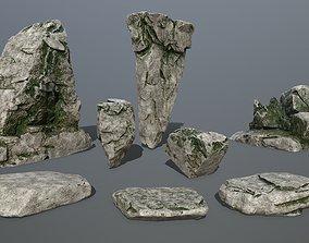rock set 3D asset realtime mount
