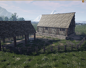 3D model Medieval Farm Workshop House