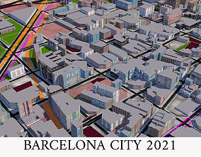 game-ready Barcelona City of Spain 3d model