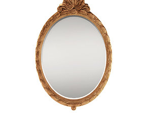 3D Neoclassical wall mirror - France about 1900