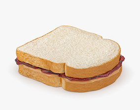 3D Peanut Butter And Jelly Sandwich