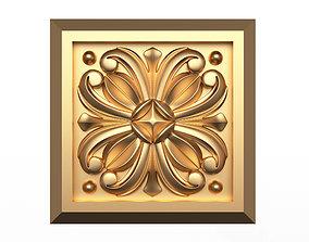 3D asset Rosette Carved Decoration CNC 019
