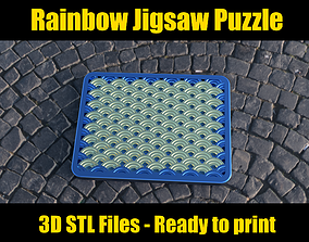 3D printable model Rainbow Jigsaw Puzzle