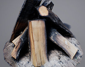 3D model Firewood - Game Ready