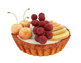 3D model Fruit berry mini tart