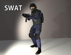 3D model SWAT Policeman