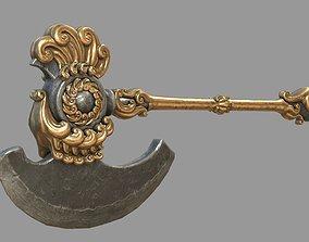 3D model Fantasy two-handed axe PBR