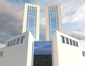 3D asset Casablanca Twin Center