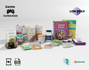 Vegan groceries 2 3D model low-poly
