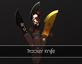 3D asset realtime Tracker Knife