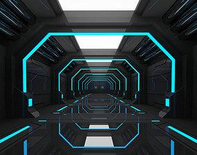 SCI FI INTERIOR SCENE SPACE SHIP 3D model low-poly