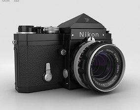 Nikon F Black 3D model