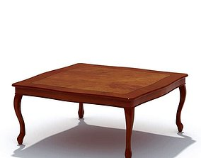 Classic Stained Wooden Coffee Table 3D model