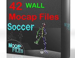 14-Soccer football motion capture animations - Wall- 3D