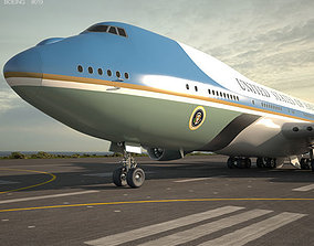3D Boeing VC-25 Air Force One