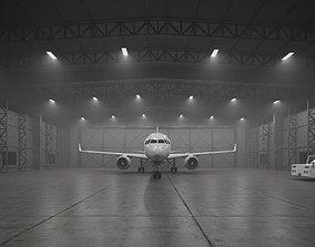CA - Airplane Hangar Warehouse 3D asset realtime