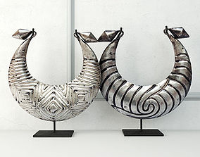 Tribal Metal Necklaces 3D