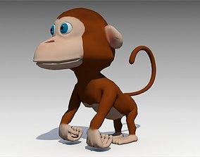 Monkey Animated 3D asset