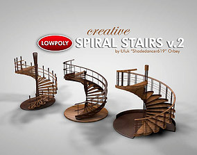 Creative Spiral Stairs 3D model