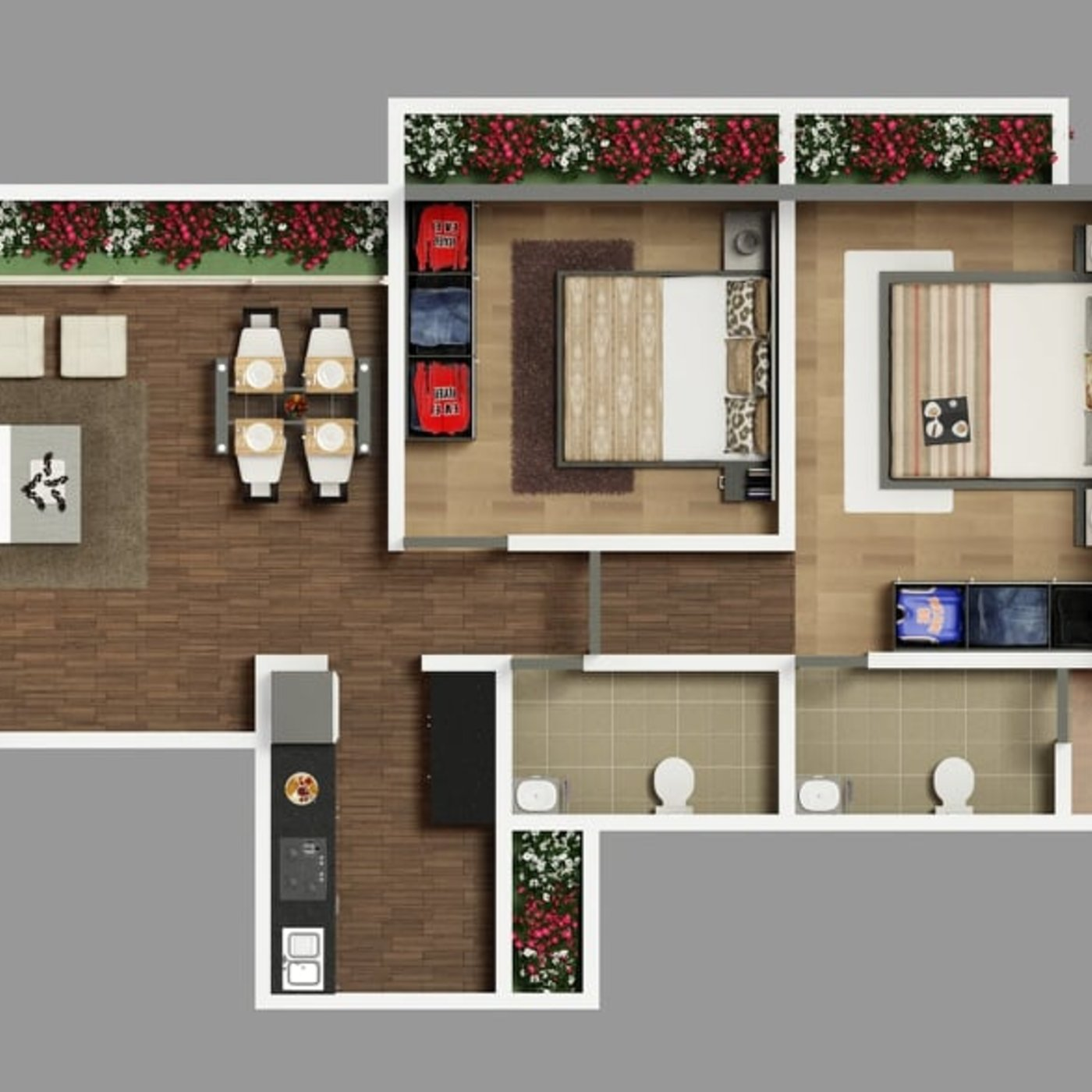 Architectural 2d House Floor Plan Rendering Services Cgtrader
