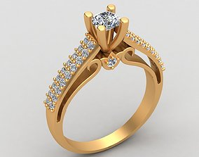 3D print model Verragio Engagement Wedding Diamond Gold