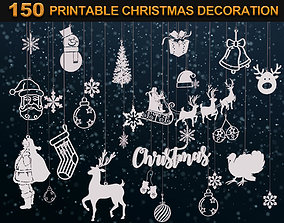 150 Printable Christmas Decoration