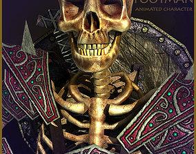 Skeleton Footman 3D asset animated