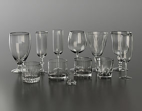 Glassware Collection for Interior Renders 3D