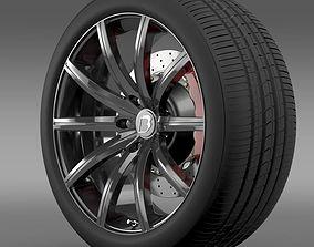 3D BB Audi R8 wheel