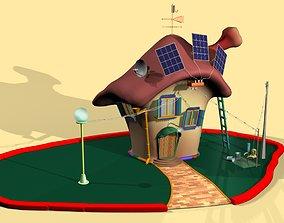 3D model house for cartoon