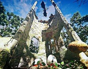 3D asset dragon nest