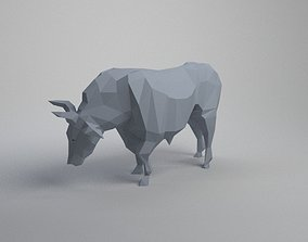 bull lowpoly buffalo 3D printable model