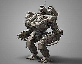 Sci fi robot 3D