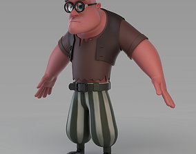 Cartoon Poor Big Man 3D