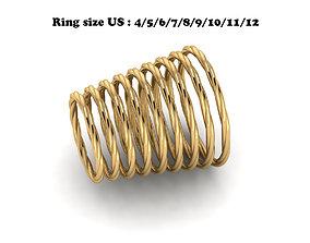 HELIX RING 3D print model david-yurman