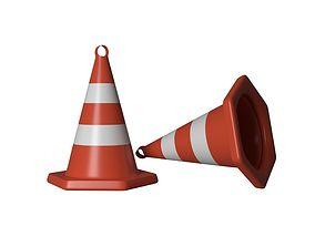 Road Cone Traffic 3D