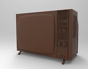 3D print model retro color TV