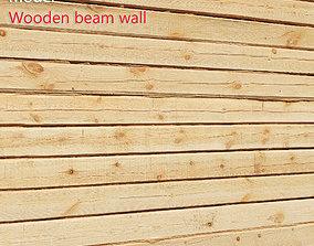 3D model Ultra realistic Wooden Beam Wall