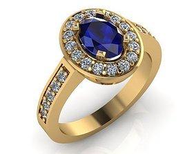 3D printable model Blue Sapphire Ring 001