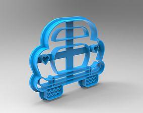 3D printable model beetle cookie cutter
