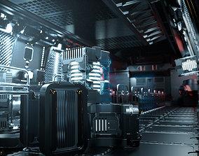 24 Sci-Fi 3D models - Interior Asset Pack