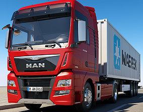 3D model MAN TGX XXL Container