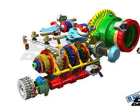 3D model BHF1 gearbox design by ChikaAsistent industrial
