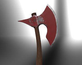 3D asset VR / AR ready battle axe