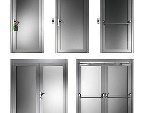 Metal swing fire doors 3D ecape
