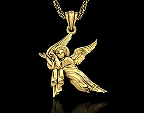 3D printable model necklace Baby Angel Pendant