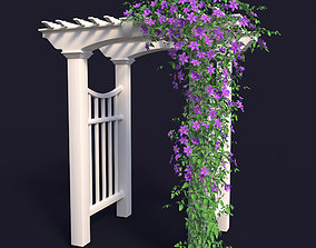 flowers 3D Garden Arch N1 with clematis
