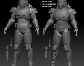 Clone Force 99 Wrecker Full Armor 3D print ready